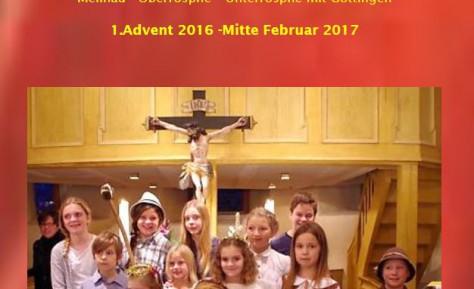 Gemeindebrief vom 1. Advent bis Mitte Februar 2017