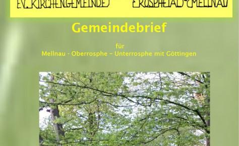 Gemeindebrief  Mitte Mai – Mitte September 2017