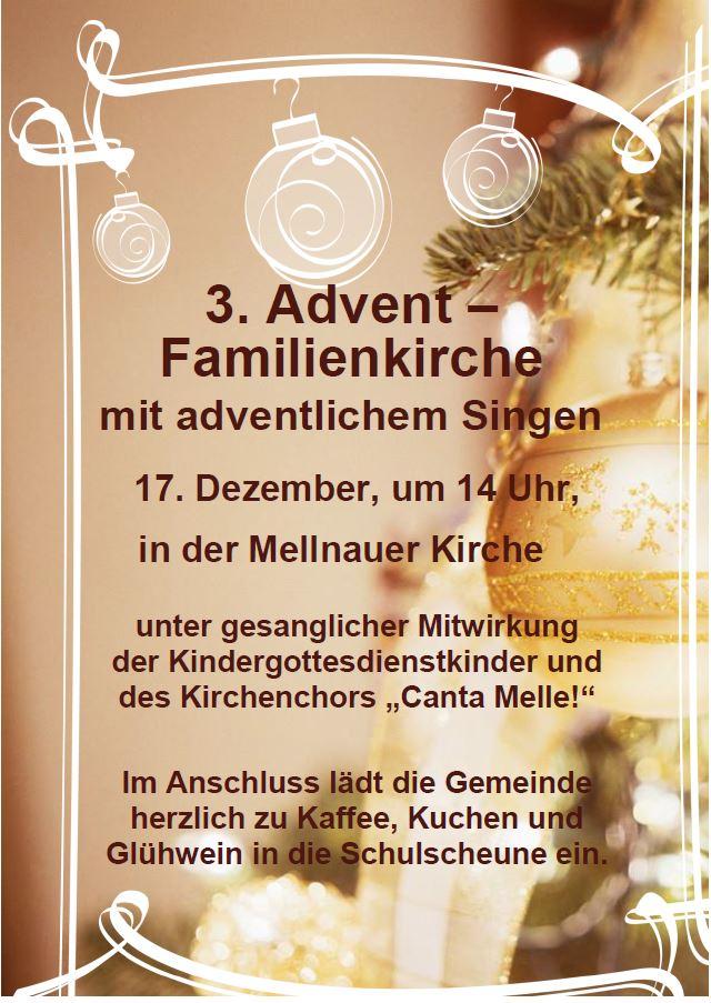 3. AdventsGottesdiensteinladung