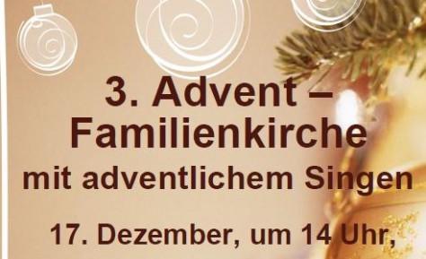 3. Advent – Familienkirche mit adventlichem Singen