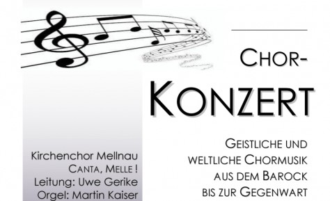 Chorkonzert in Mellnau am 03.11.2018