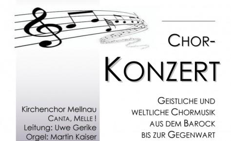 Chorkonzert in Mellnau am 03.11.2018
