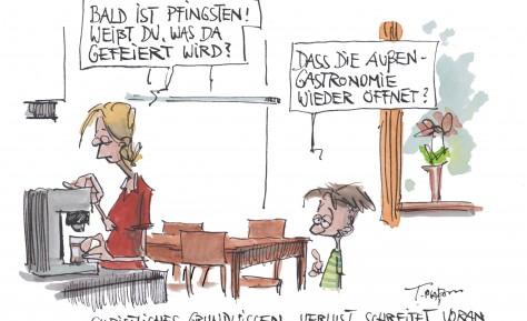 Cartoon zu Pfingsten